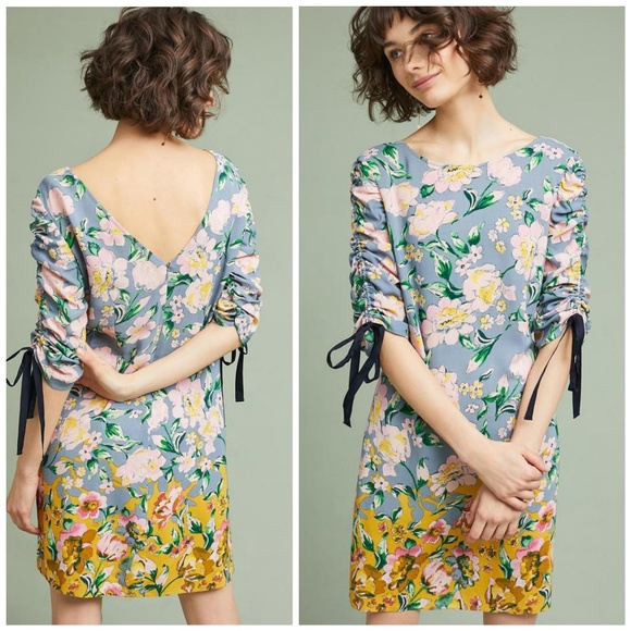 39b2c49bf4b0 Anthropologie Dresses | Nwt Donna Morgan Floral Cassidy Ruched Dress ...